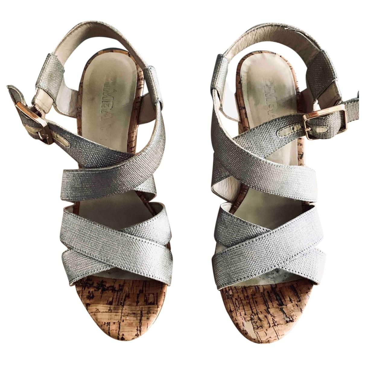 Bimba Y Lola - Sandales   pour femme en toile - metallise