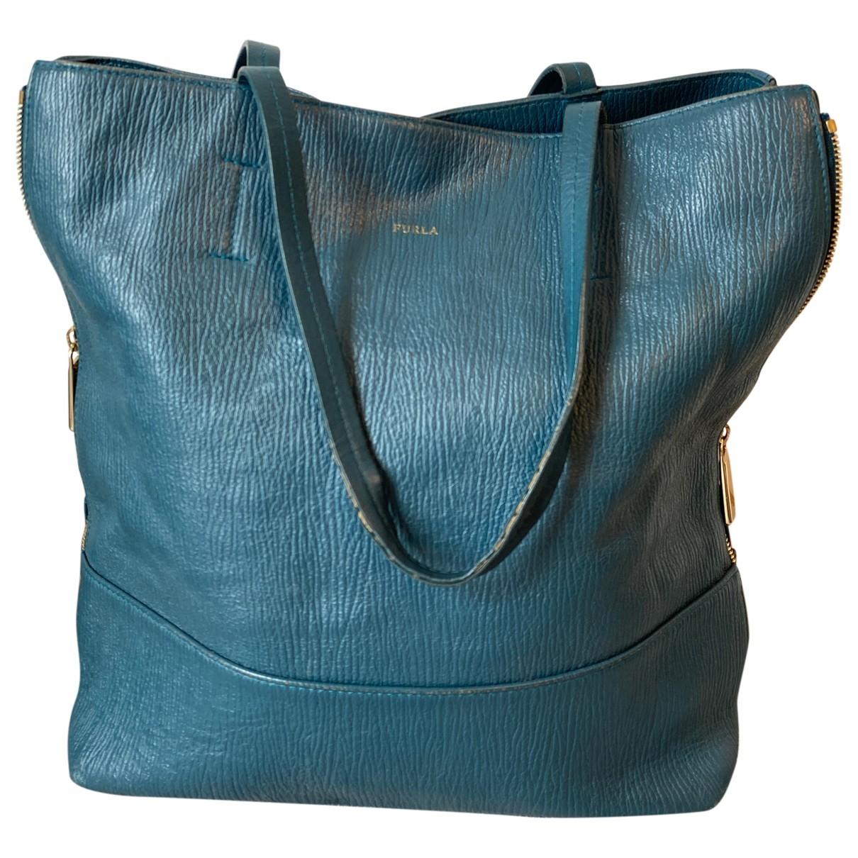Furla \N Turquoise Leather handbag for Women \N