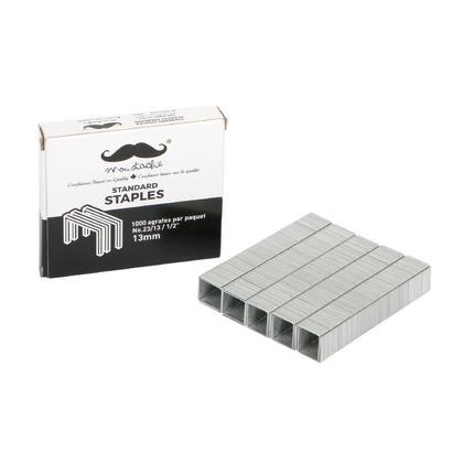 Staples, 1000 count/box - Moustache® - 1/Pack, No. 23/13, 13mm