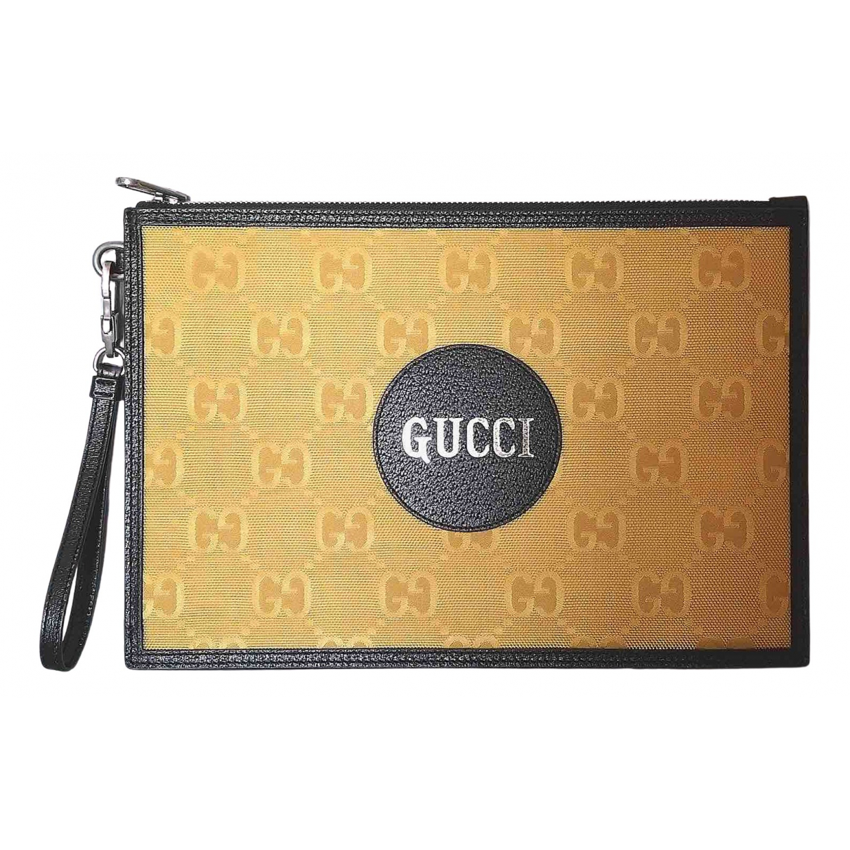 Gucci N Yellow Cotton Small bag, wallet & cases for Men N