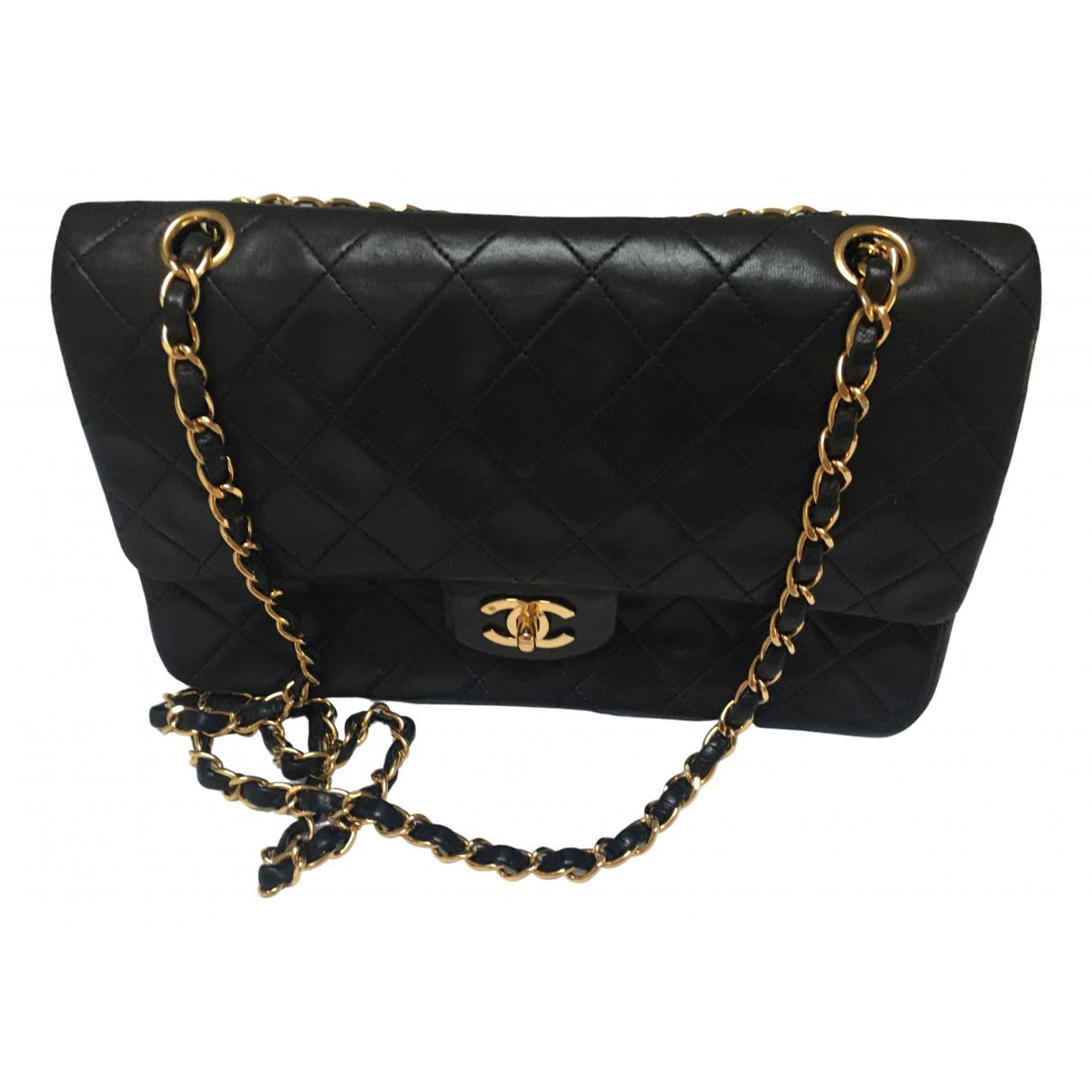 Chanel Timeless/Classique Black Leather handbag for Women N