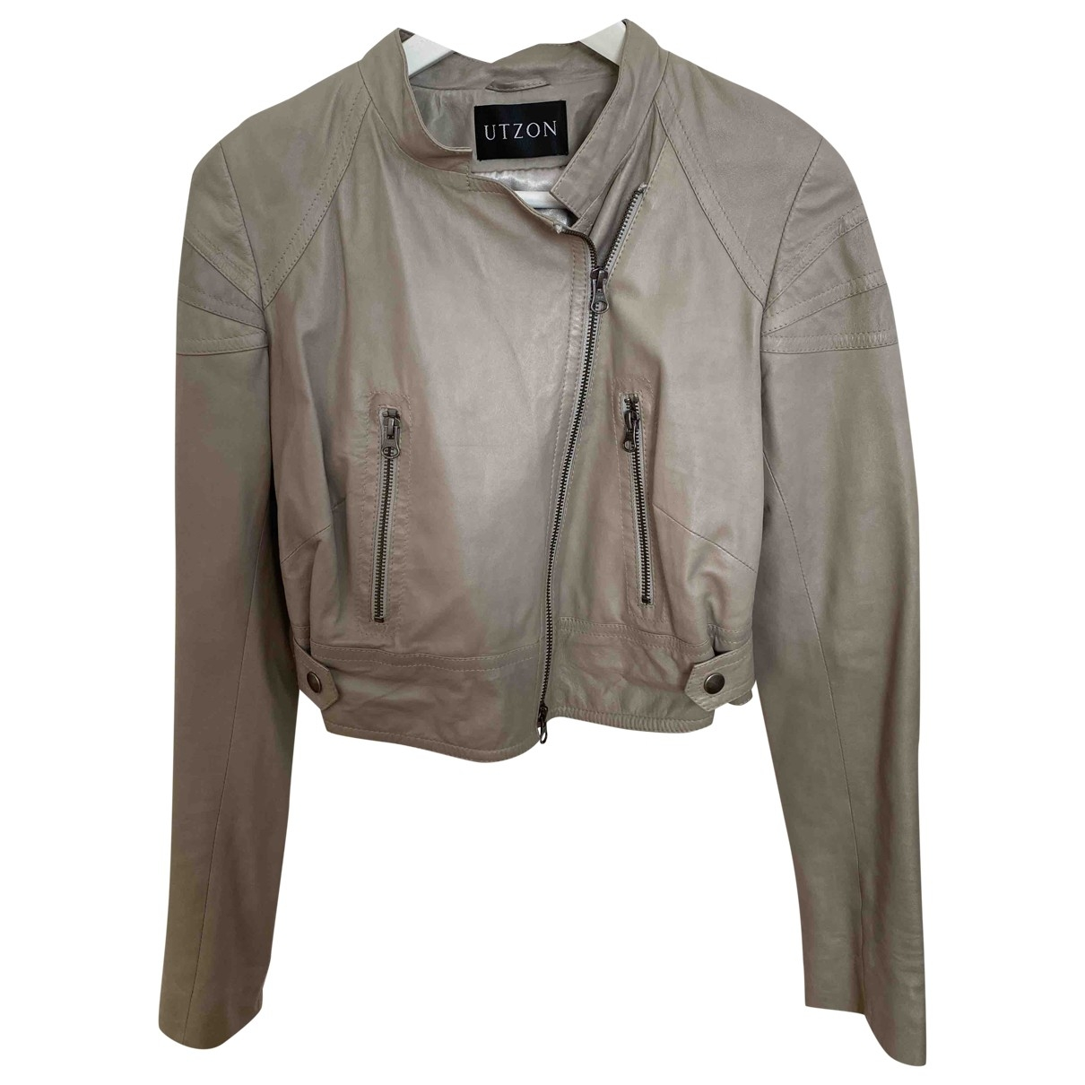Utzon \N Beige Leather Leather jacket for Women 36 FR