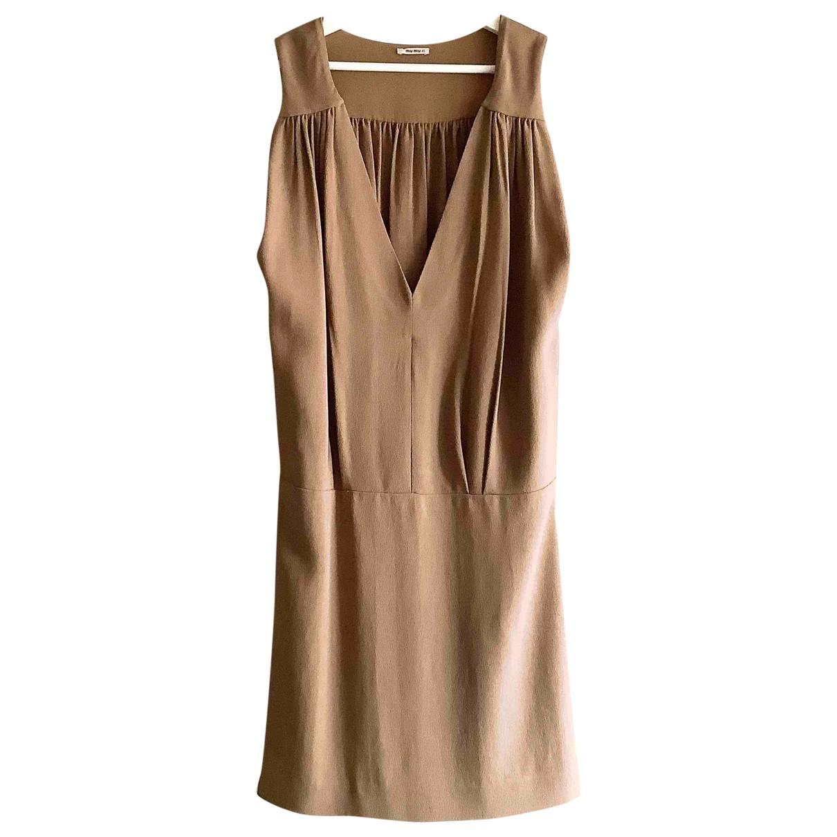 Miu Miu \N Camel dress for Women 40 IT