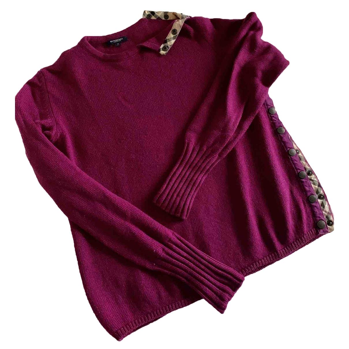 Burberry - Pull   pour femme en laine - violet