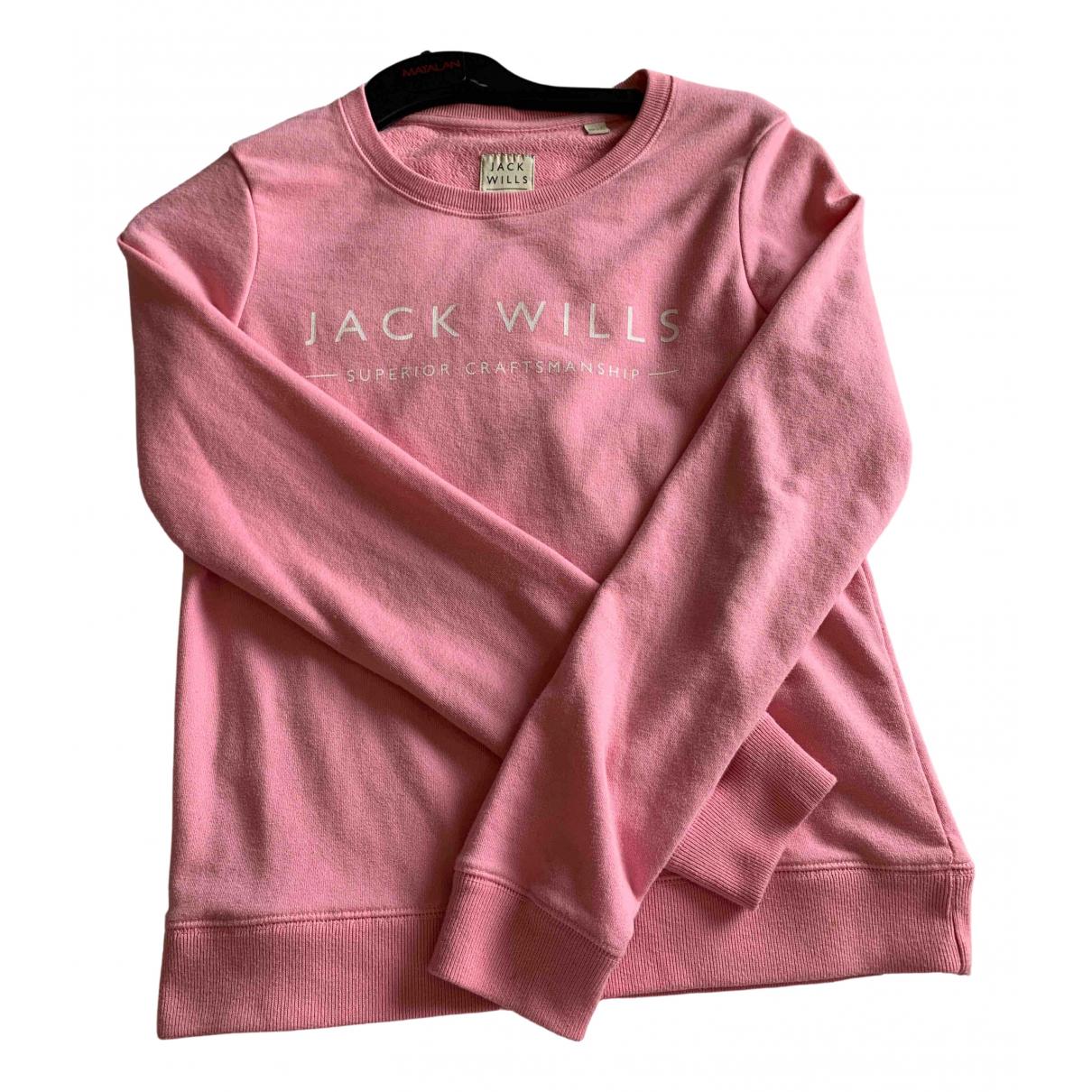 Jack Wills - Pull   pour femme en coton - rose
