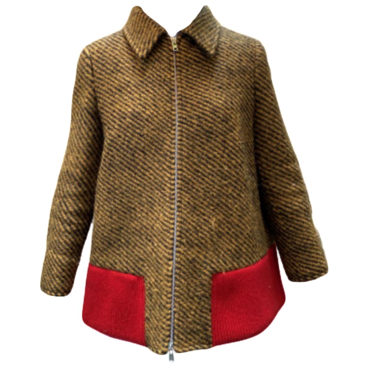 Prada \N Yellow Wool jacket for Women 42 IT