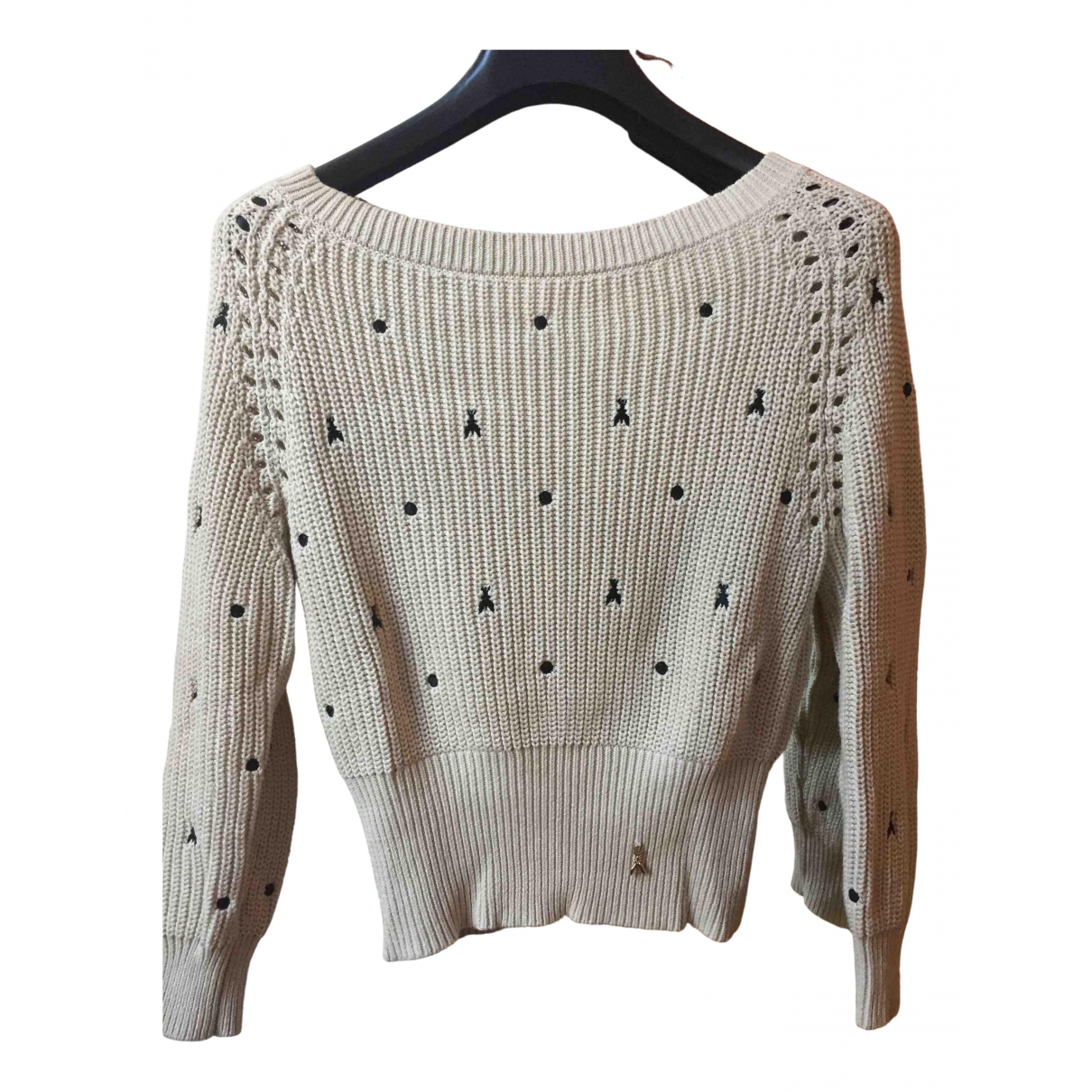 Patrizia Pepe \N Beige Cotton Knitwear for Women 0 0-5