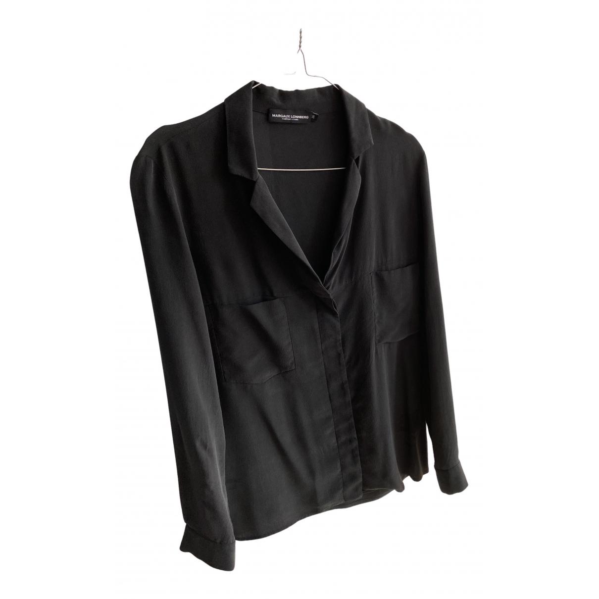 Margaux Lonnberg - Top   pour femme en soie - noir
