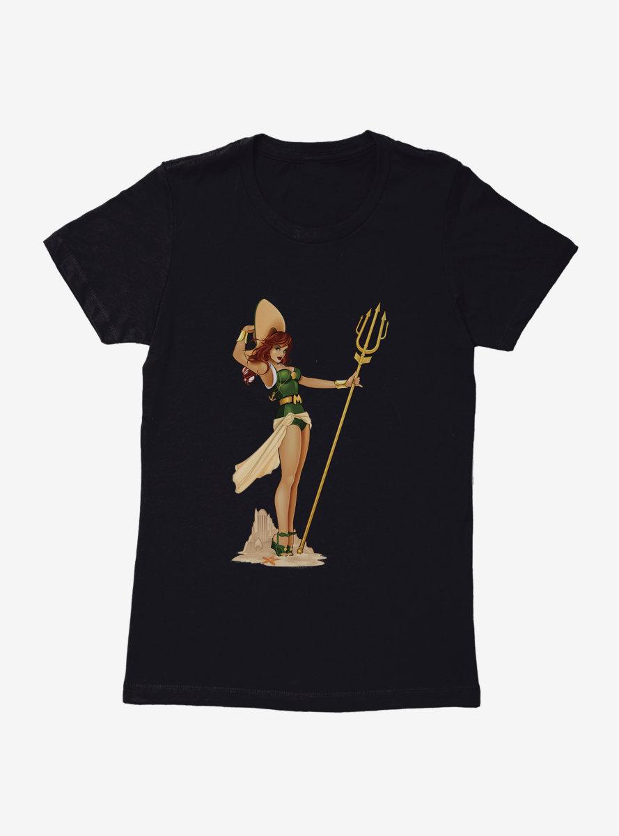 DC Comics Bombshells Meet Mera Womens T-Shirt