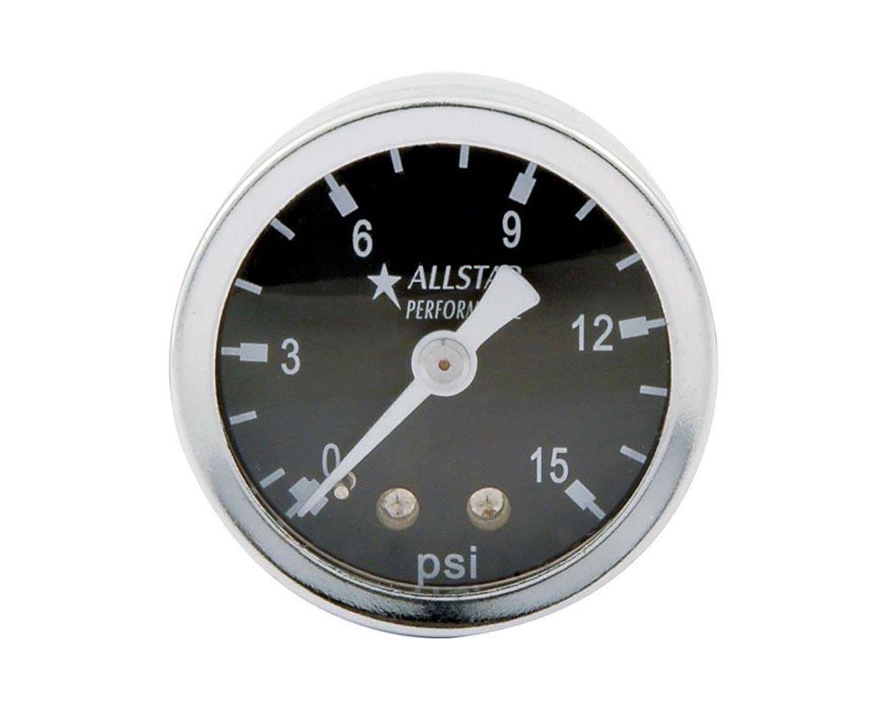 Allstar Performance ALL80200 1.5in Gauge 0-15 PSI Liquid Filled ALL80200