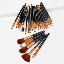 Zweifarbiger Makeup Pinsel 25pcs