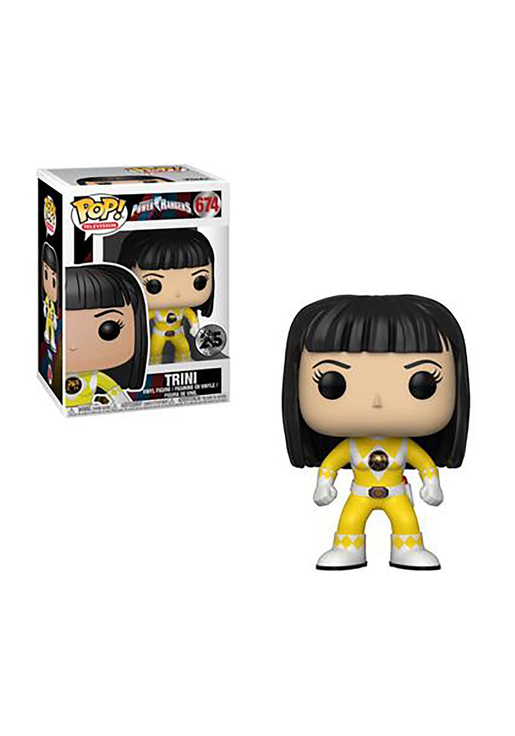 Pop! TV: Power Rangers- Yellow Ranger Trini (No Helmet) Vinyl Figure
