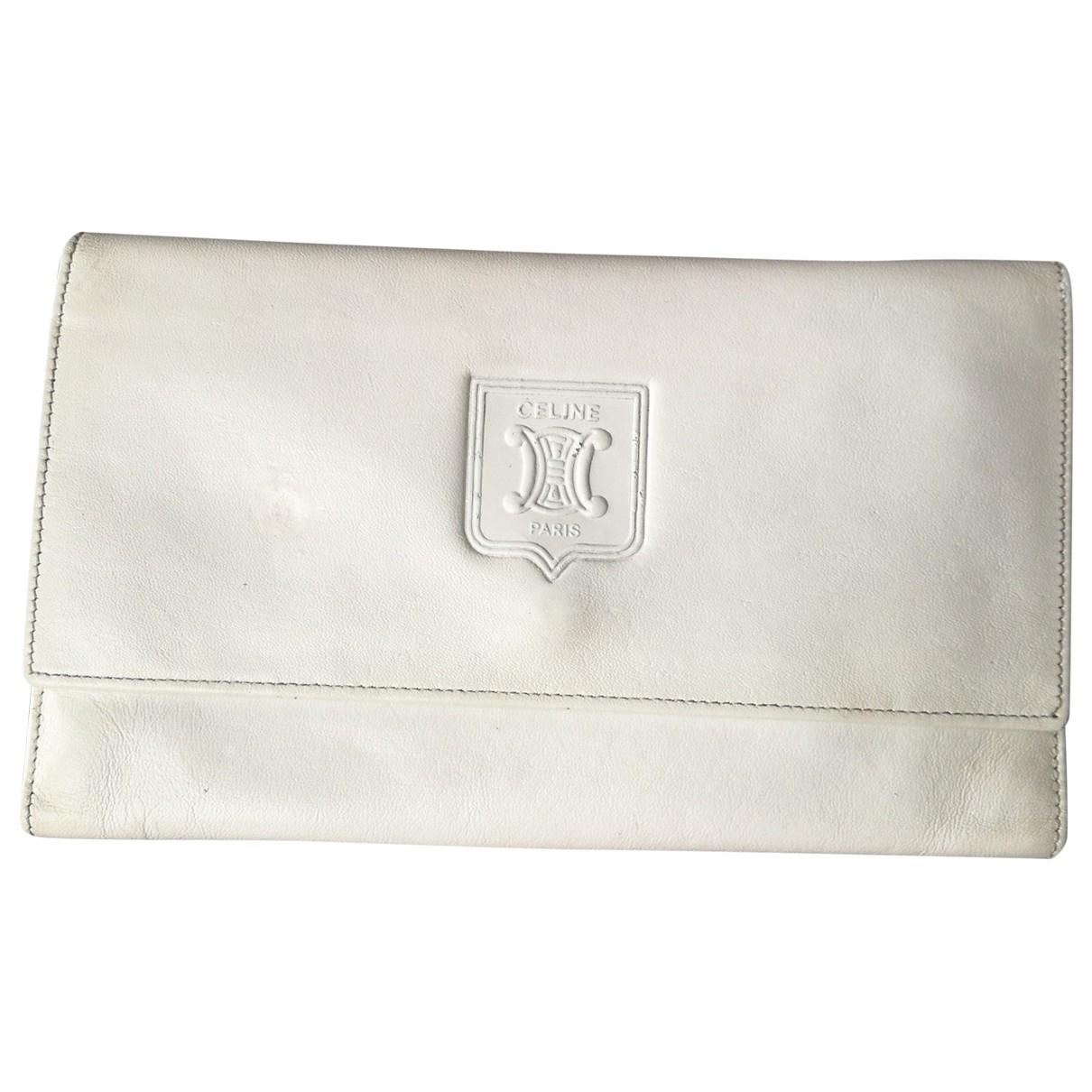 Celine N White Leather wallet for Women N