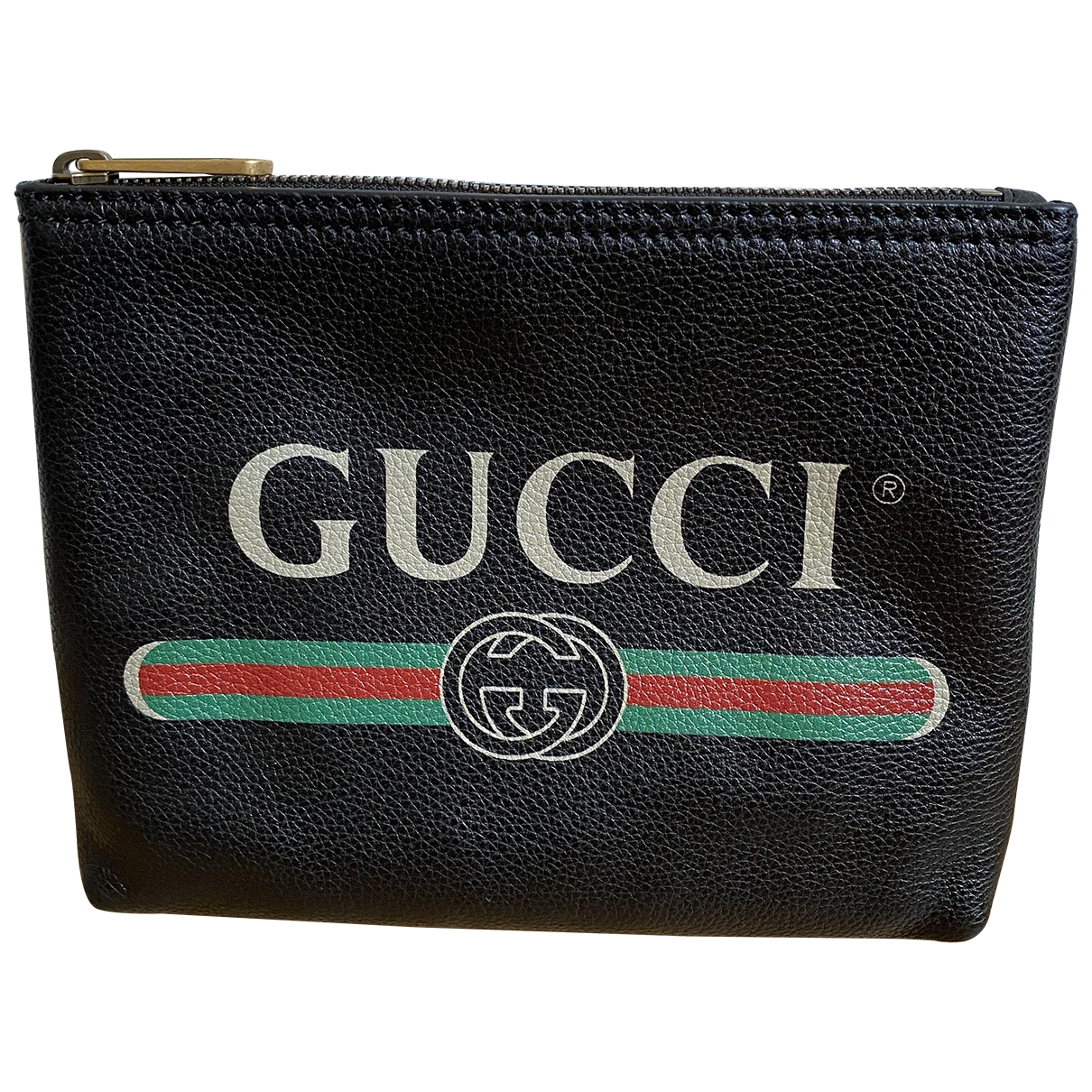 Gucci \N Black Cloth Small bag, wallet & cases for Men \N