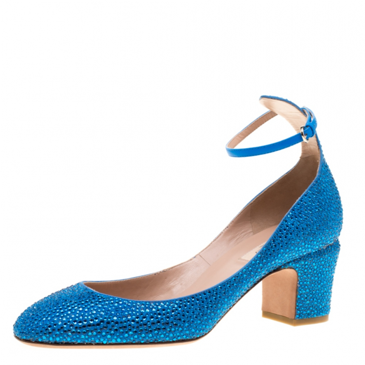 Autre Marque - Escarpins   pour femme en suede - bleu