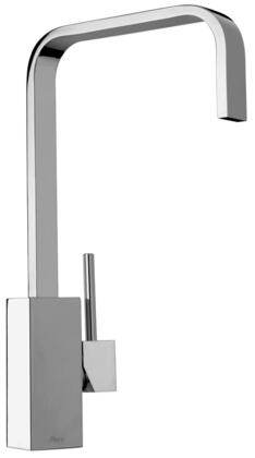 25558-55 Single Hole Kitchen Faucet with Swivel Ribbon Spout in Designer Antique Copper