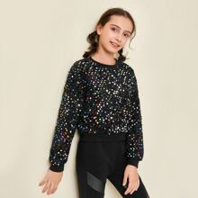 Girls Colorful Sequin Pullover