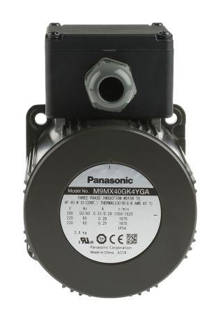 Panasonic M9M Reversible Induction AC Motor, 40 W, 3 Phase, 4 Pole, 230 V ac