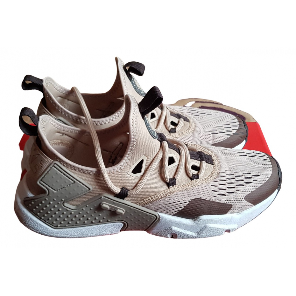 Nike - Baskets Huarache pour homme en toile - beige