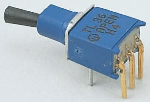 APEM SPST Toggle Switch, Latching, PCB