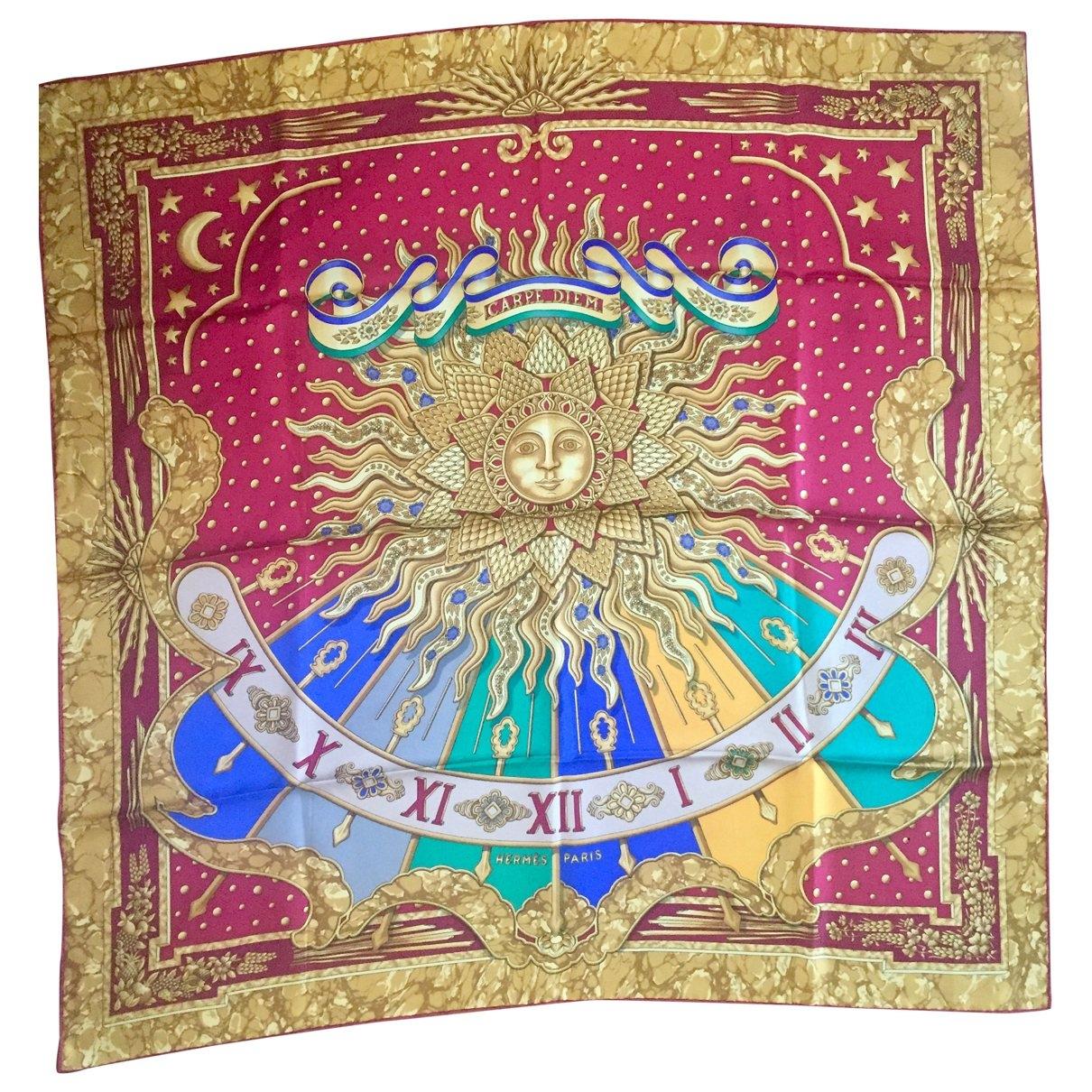 Hermès \N Red Silk scarf for Women \N