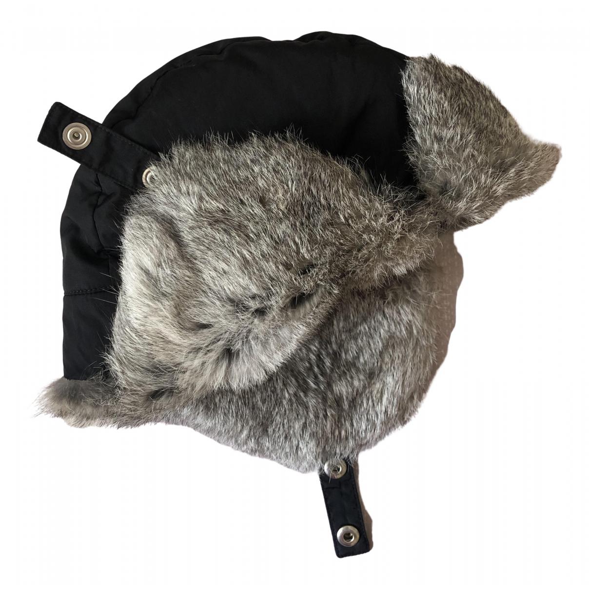 Dior \N Hut, Muetzen in  Grau Kaninchen