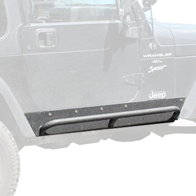 Jeep TJ Rock Sliders w/ Step 87-95 Wrangler YJ Tuff Stuff Overland TS-RSL-8795