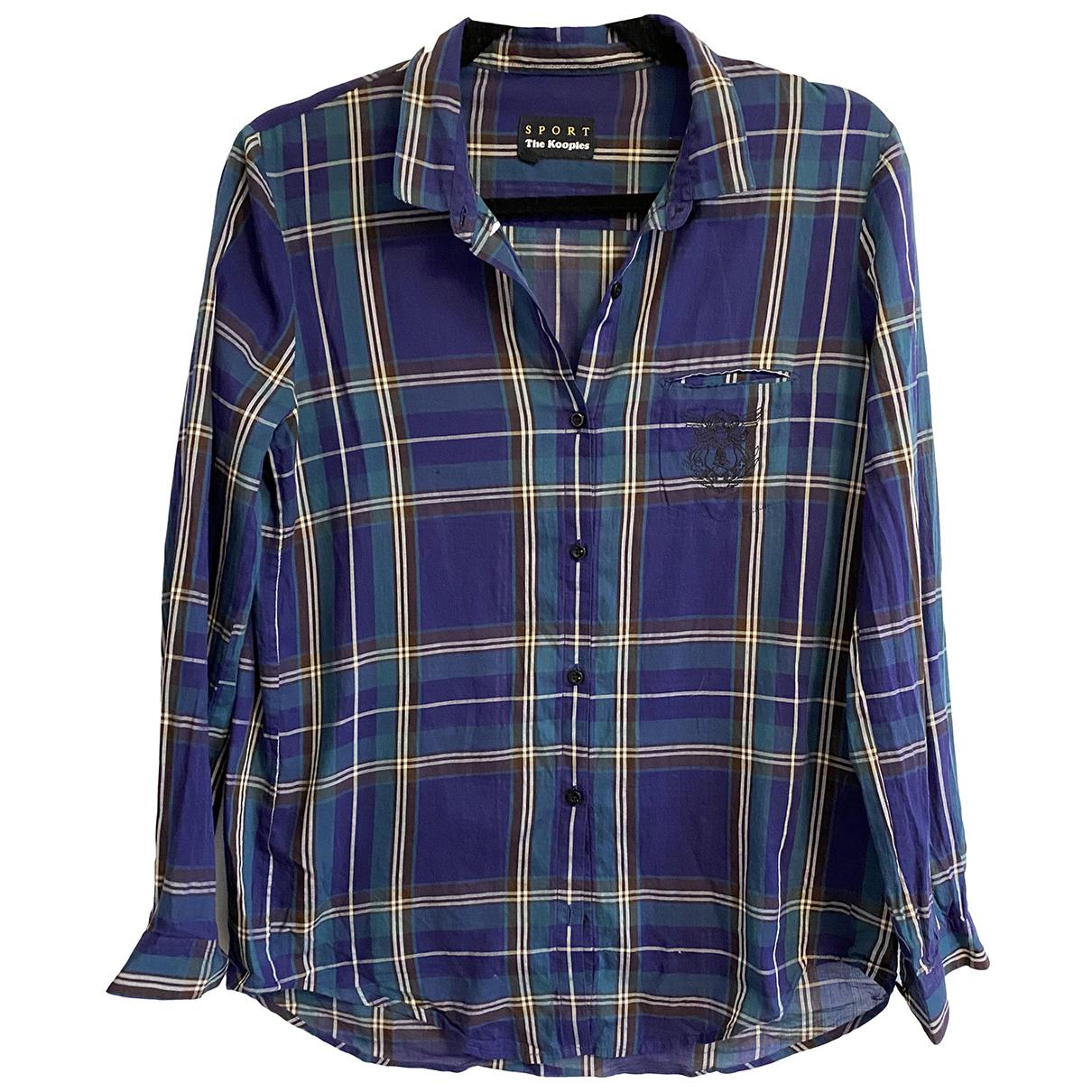 The Kooples - Top   pour femme en coton - bleu
