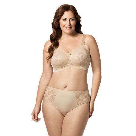Elila Lace & Microfiber Panty, 4x , Beige