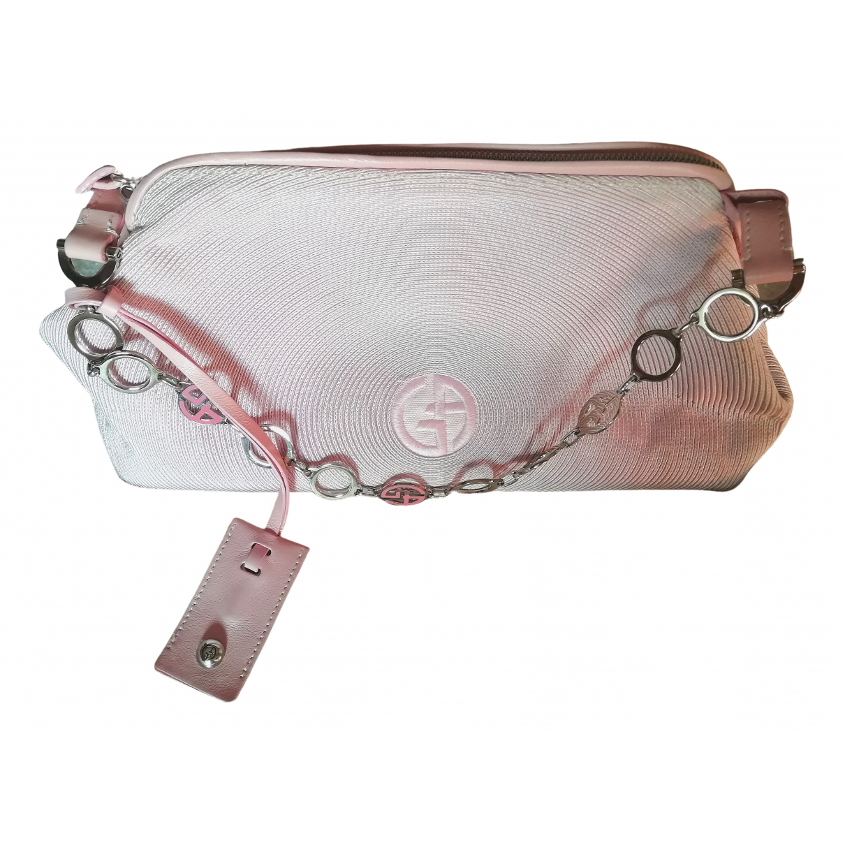 Giorgio Armani \N Pink Cotton handbag for Women \N