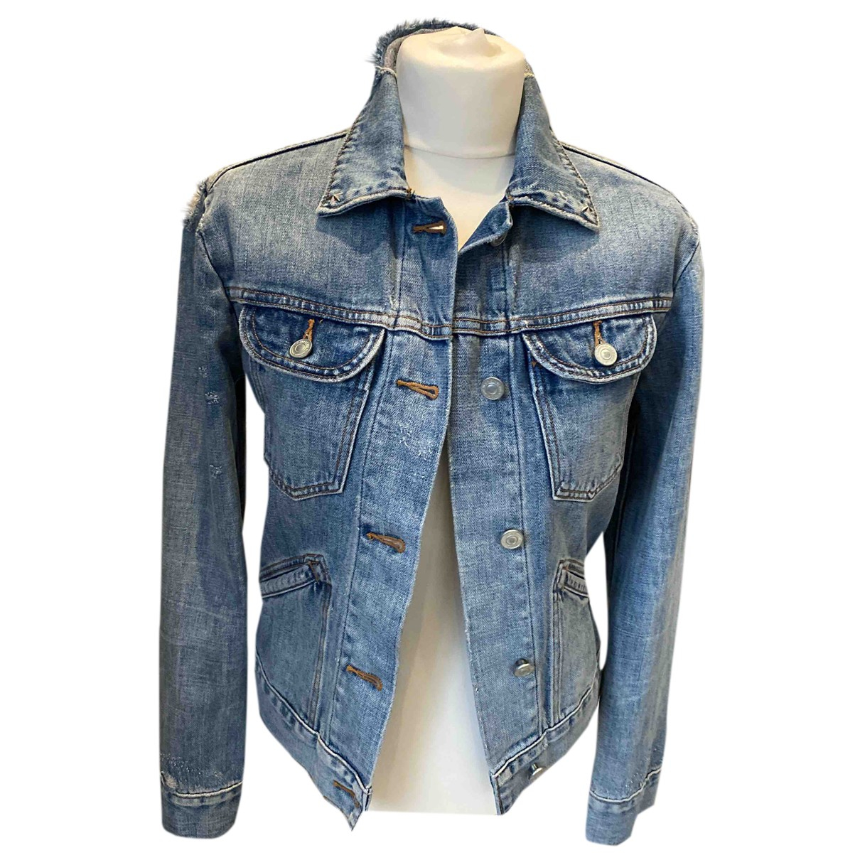 All Saints - Veste   pour femme en denim - bleu