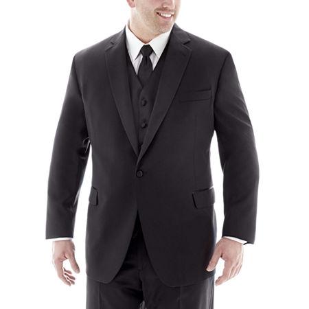 Stafford Tuxedo Jacket-Big & Tall, 58 Big Short, Black