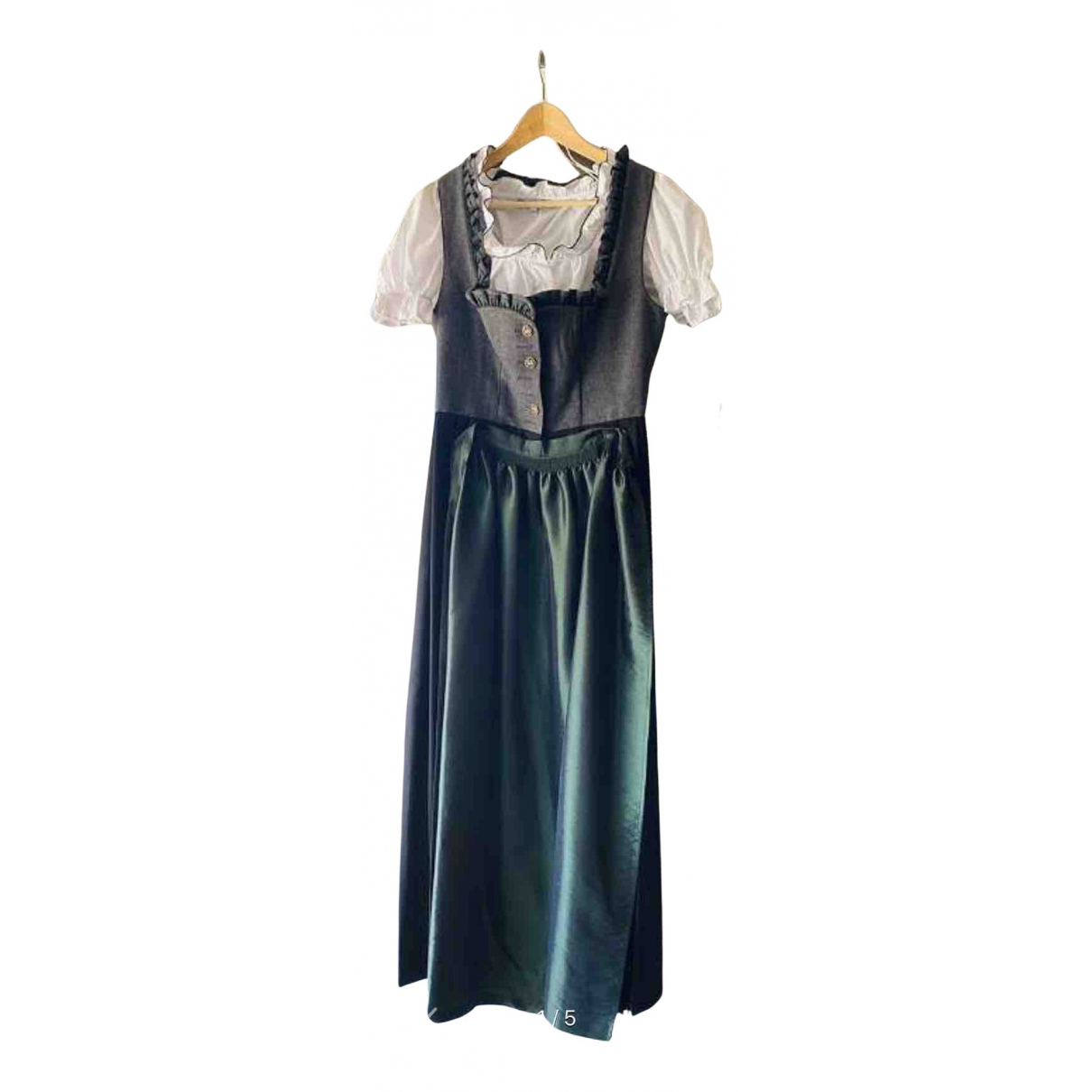 Non Signe / Unsigned \N Kleid in  Grau Baumwolle
