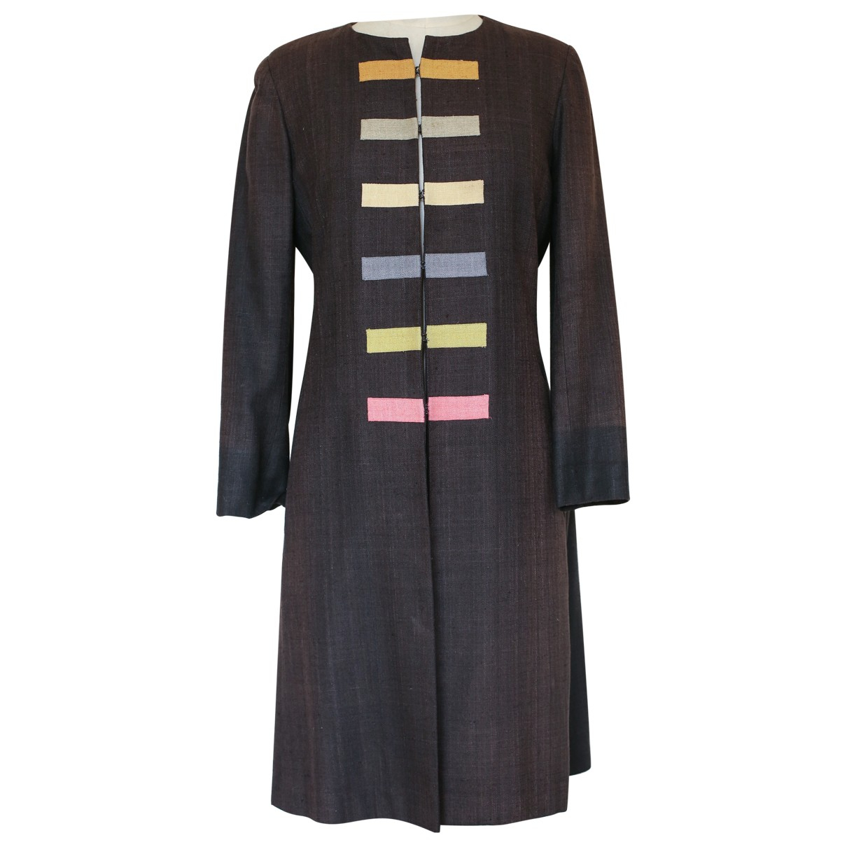 Non Signé / Unsigned \N Black Linen jacket for Women M International