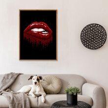 Wandmalerei mit Lippe Muster ohne Rahmen