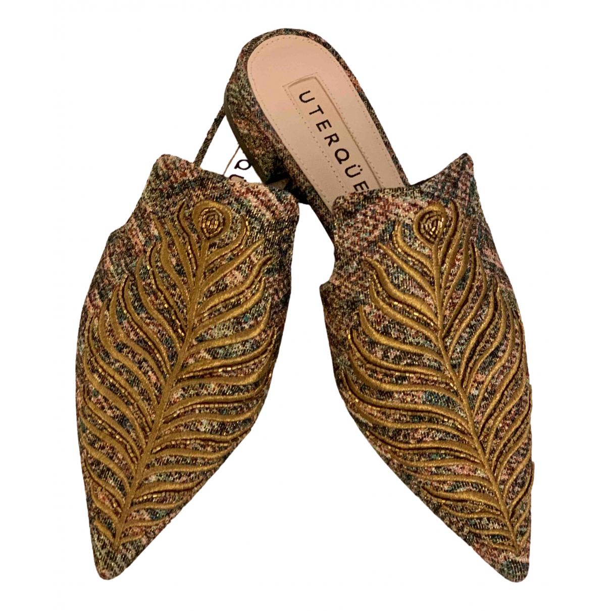 Uterque \N Gold Cloth Mules & Clogs for Women 36 EU