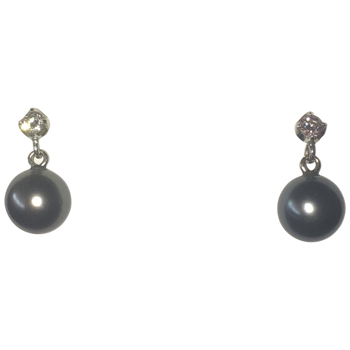 Non Signé / Unsigned N Grey White gold Earrings for Women N