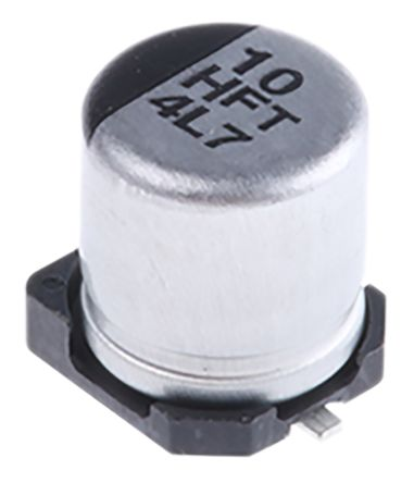 Panasonic 10μF Electrolytic Capacitor 50V dc, Surface Mount - EEEFT1H100AR (10)