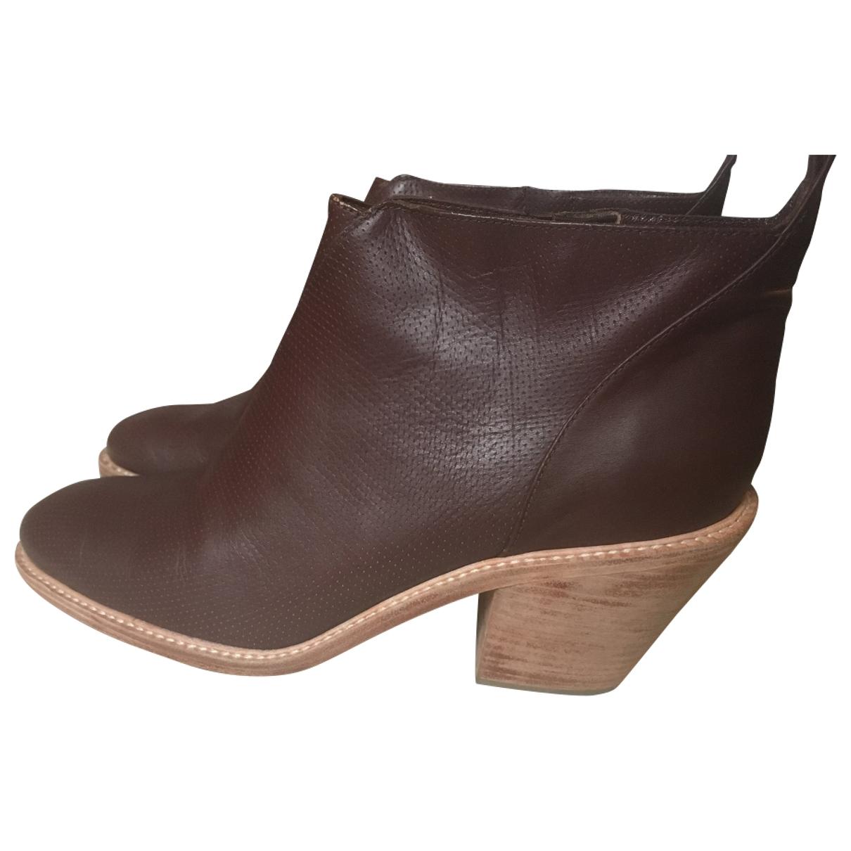 Rachel Comey - Boots   pour femme en cuir - marron