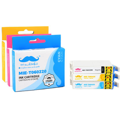Epson 60 T060 cartouche d'encre compatible combo C/M/Y - Moustache®