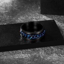 Men Chain Decor Ring