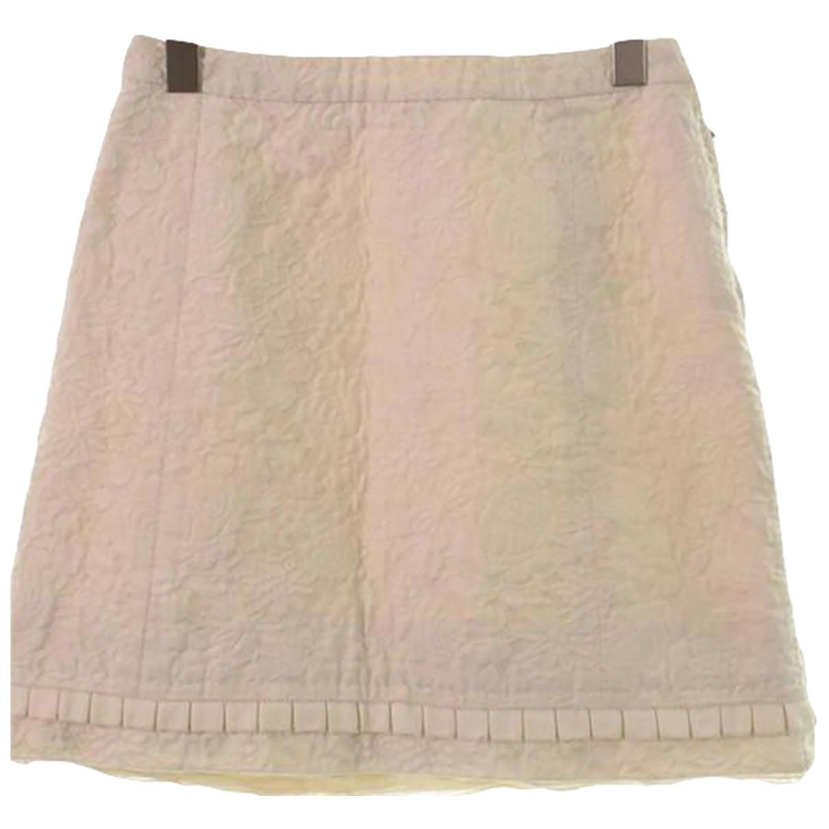 Louis Vuitton - Jupe   pour femme en coton - blanc