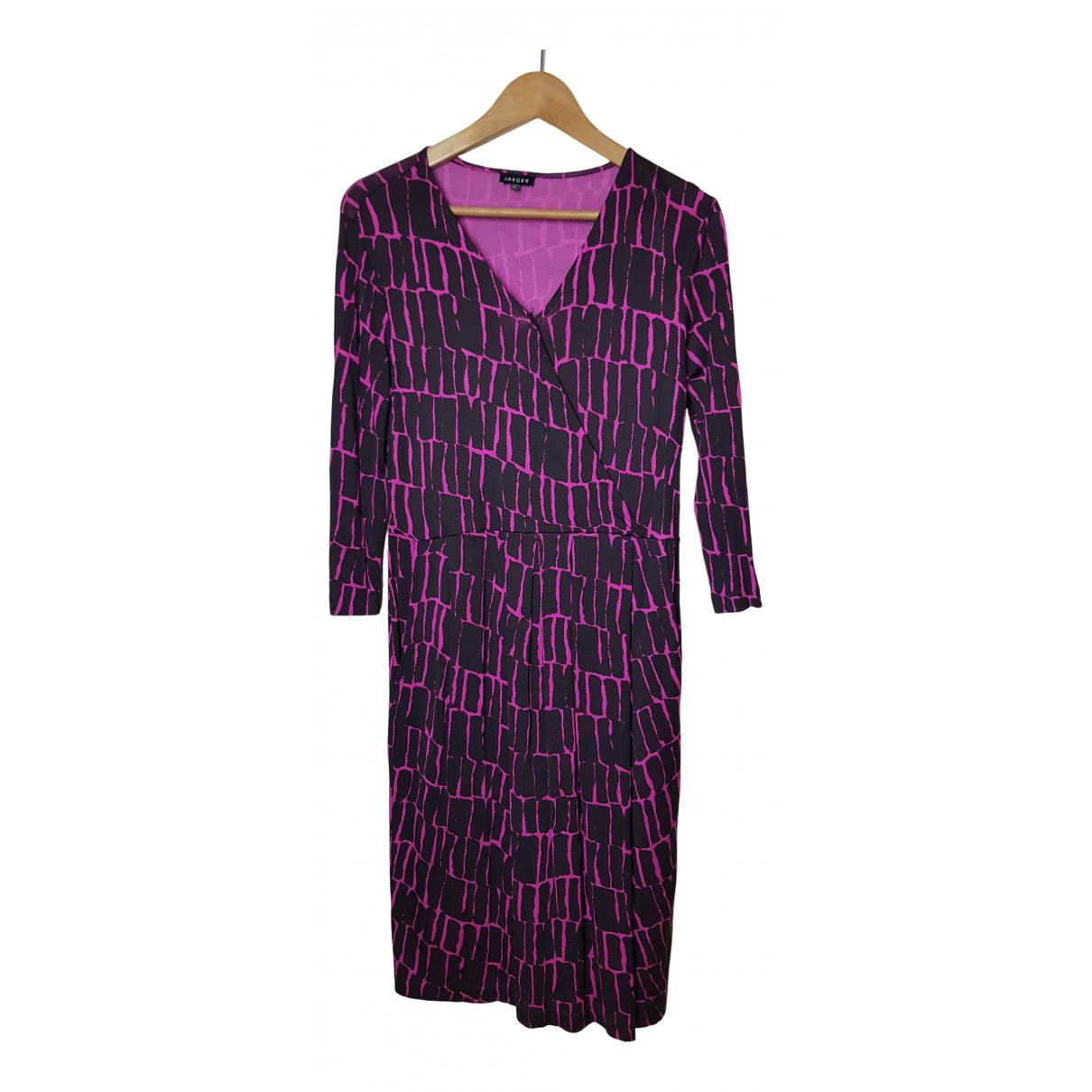 Jaeger \N Kleid in  Lila Viskose