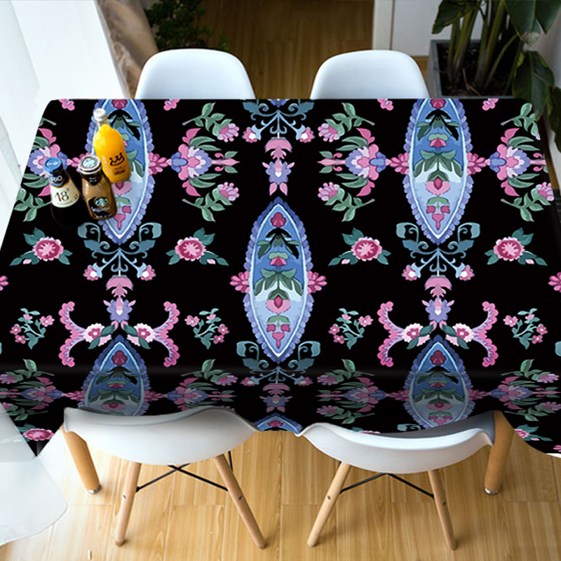 Wateroroof Polyester Home Use Rectangle 3D Tablecloth