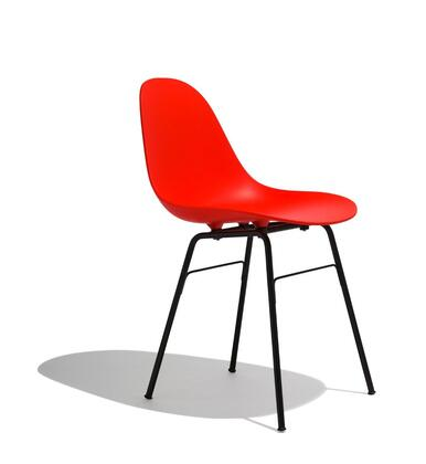 TA Collection TO-1511R-1501BB Side Chair/Yi Base Black Stained Oak/Red
