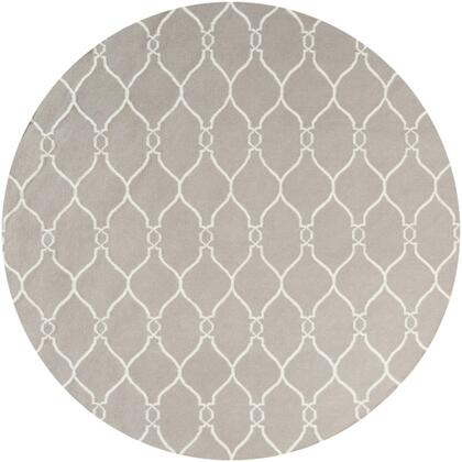 FAL1003-8RD 8' Round Rug  in Taupe and