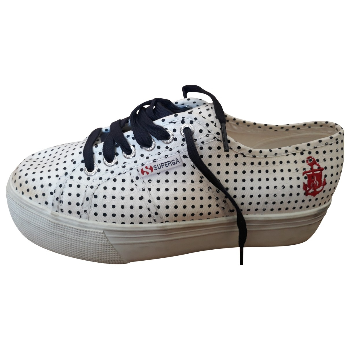 Superga \N Sneakers in  Weiss Leinen
