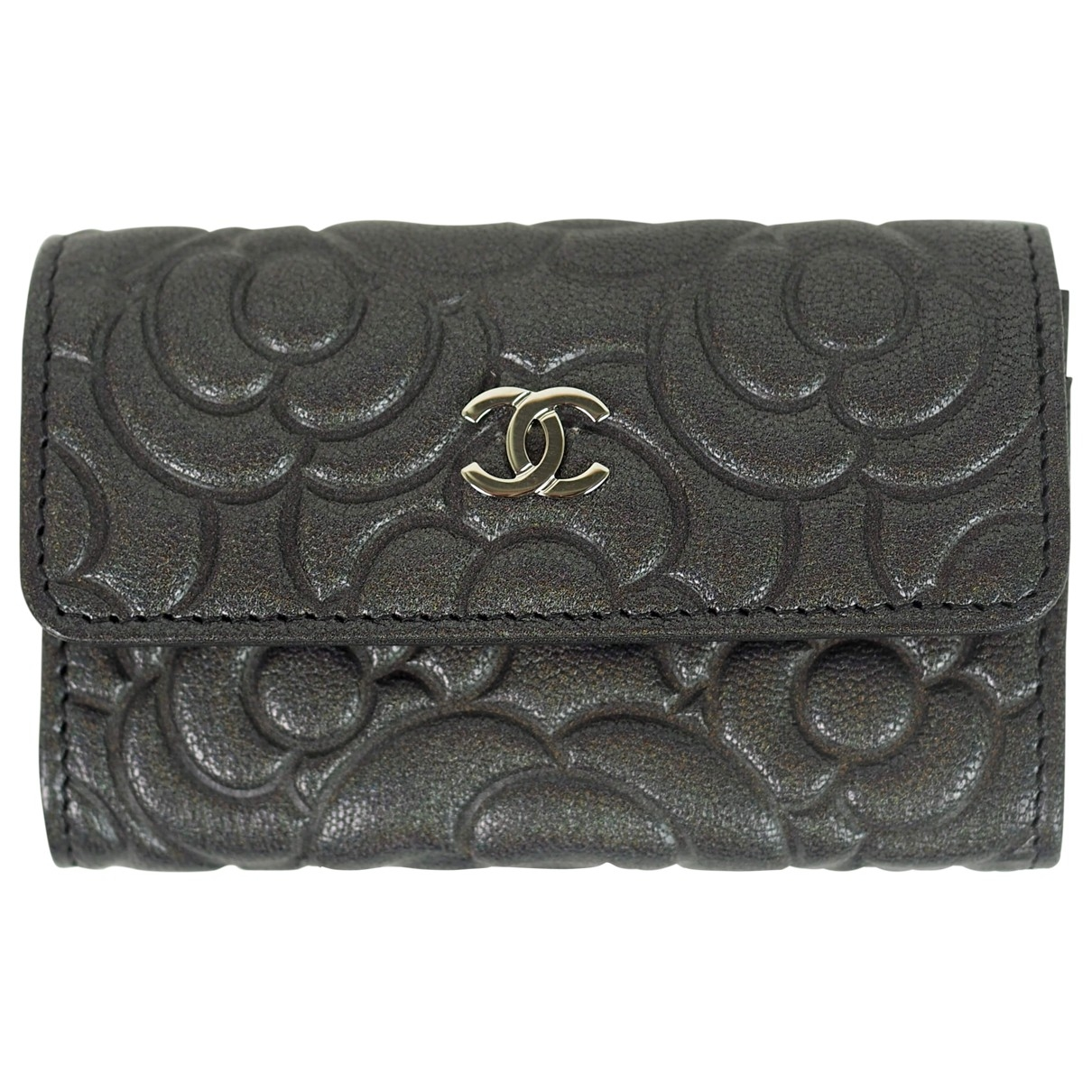 Chanel \N Portemonnaie in  Anthrazit Leder