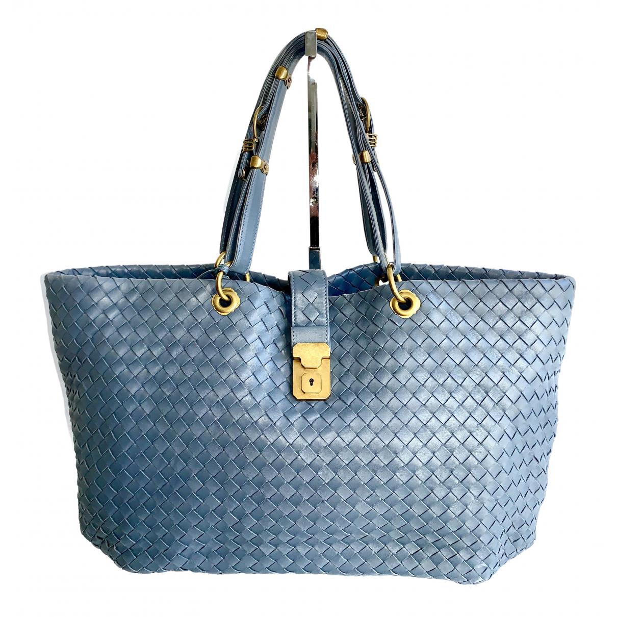 Bottega Veneta Fourre-Tout  Blue Leather handbag for Women N