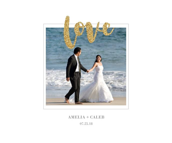 Love Framed Canvas Print, Black, 16x20, Home Décor -Love Glitter